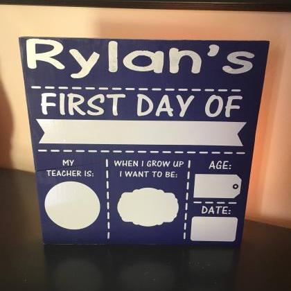 Reusable vinyl 12 x12 first day of ..