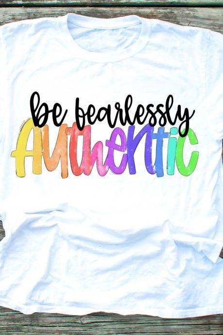 Be fearlessly Authentic. Raglan. Sublimation. Next Level. Fearless. 100% Authentic.