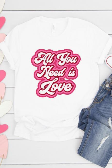 All you need is love. Valentines Day Raglan. Sublimation. Next Level. Valentines Day Tee. love