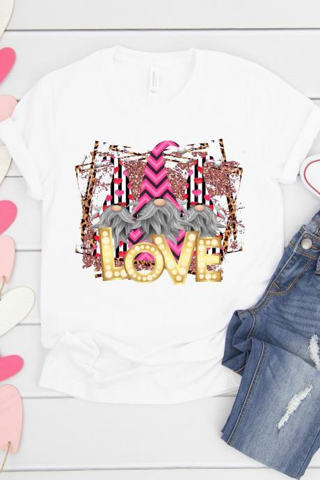 Gnomes Love. Valentines Day Raglan. Sublimation. Next Level. Valentines Day Tee. love. Gnomes Valentines. Gnomes Love