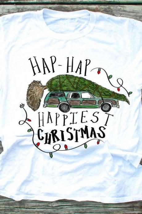 Hap Hap Happiest Christmas shirt. Griswolds . Christmas Vacation. Clark. Sublimation shirt.Black Friday Tee