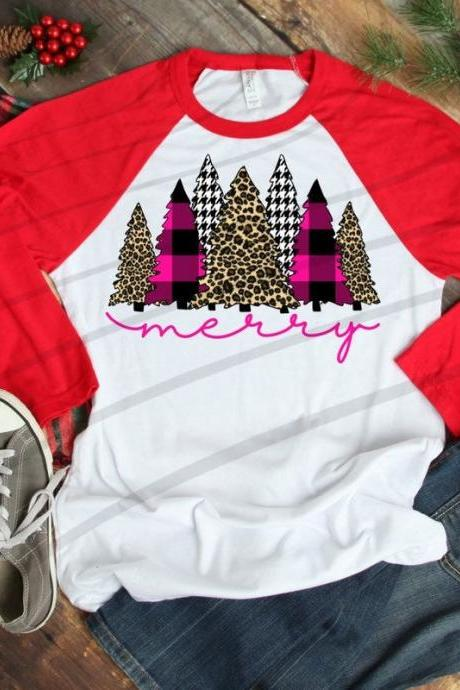 Merry shirt. Merry Holiday Shirt. Screen Print. Graphic Tees. Christmas Trees Next level. Bella Canvas. Christmas tee. Buffalo plaid.