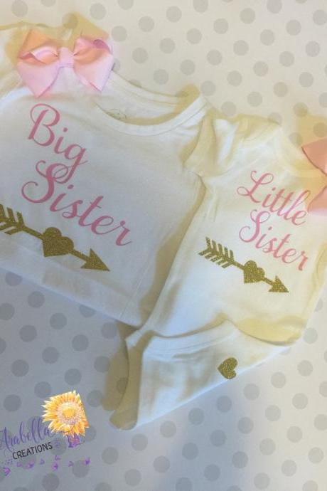 Big Sister Little Sister set. Option of matching bows.