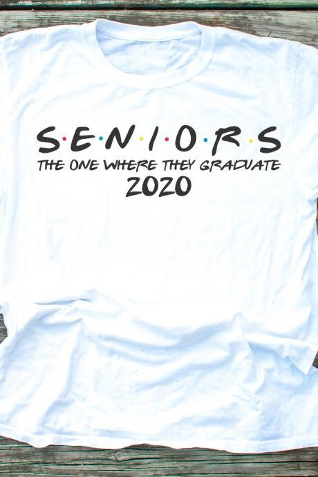 The one where they graduate. FRIENDS. Seniors 2020. Graduation Tee Raglan. Sublimation. Next Level.
