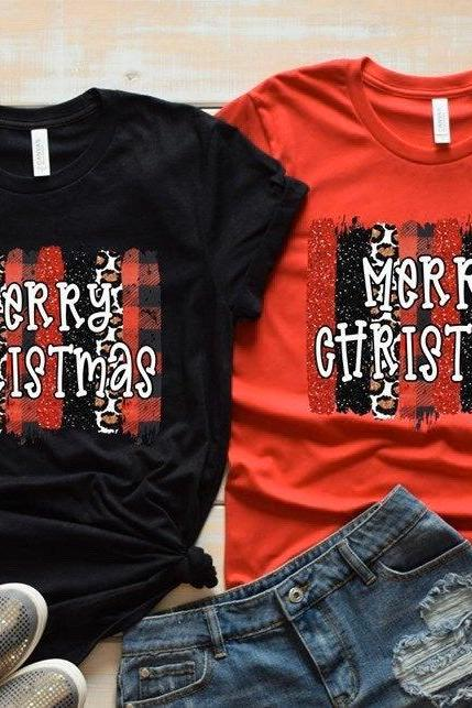 Merry Christmas shirt.Christmas Shirt. Ladies Holiday Tee.Merry Christmas Shirt .Bella Canvas.