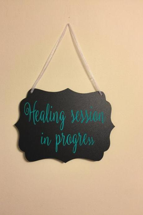 Custom yoga studio/spa door hangings.