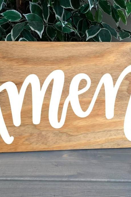 Amen. Hand painted wood sign. Farmhouse sign. 12x24. Faith.