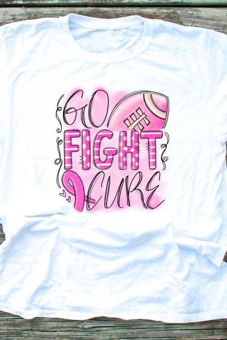 Go.Fight.Cure.In October we wear Pink..October.Pink Pumpkins.Unisex.Raglan.Sublimation.Support Breast Cancer.Football breast cancer