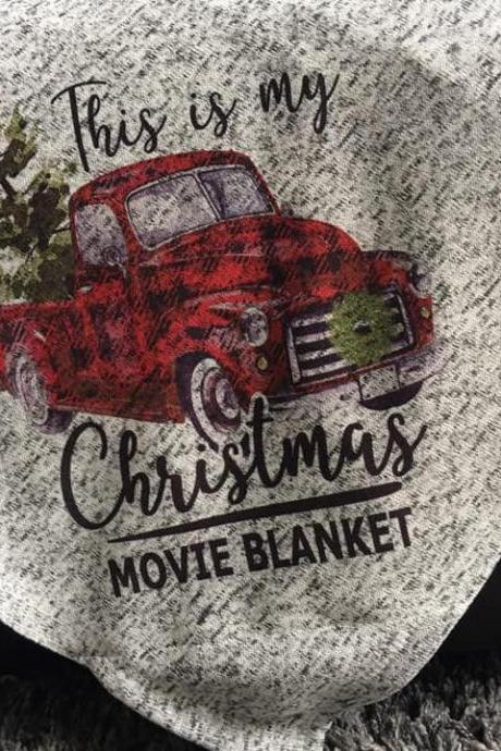 Christmas Movie Fleece Blanket, This Is My Christmas Movie Blanket, Movie Fleece Blanket, Christmas Gift Fleece blankets