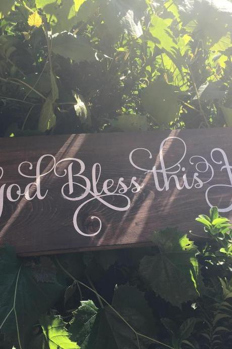 God bless this home hand painted wood sign
